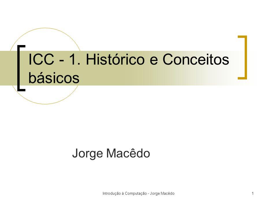 ICC - 1. Histórico e Conceitos básicos