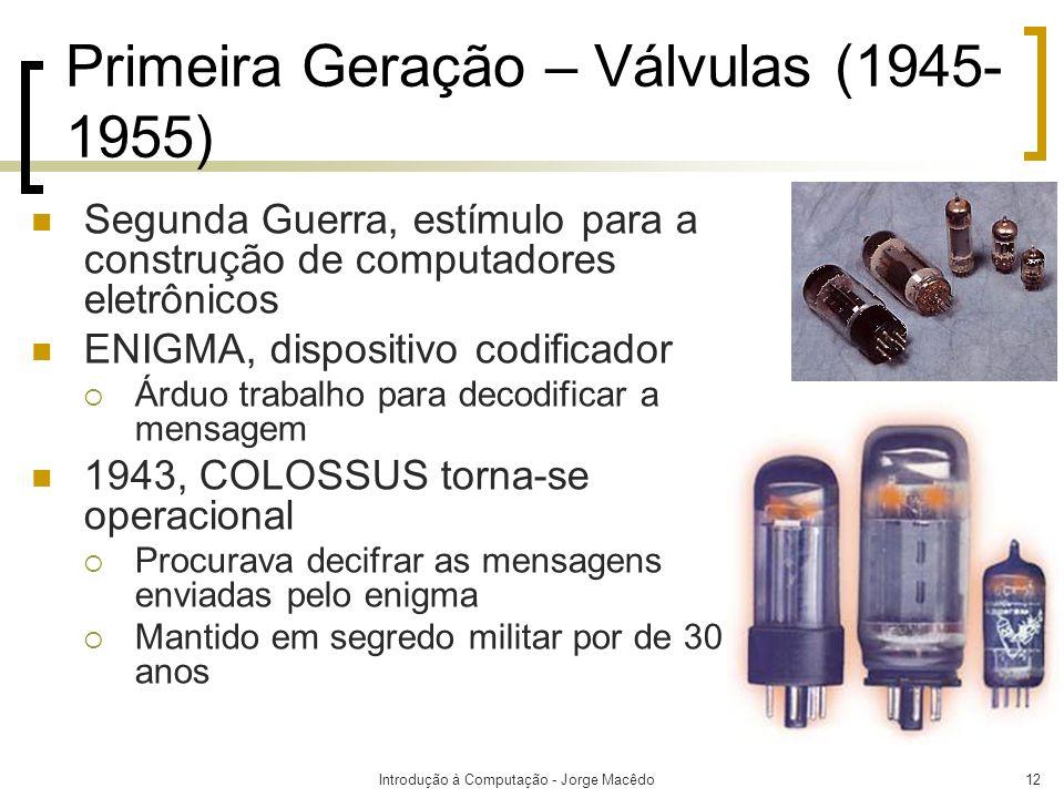 Primeira Geração – Válvulas (1945-1955)