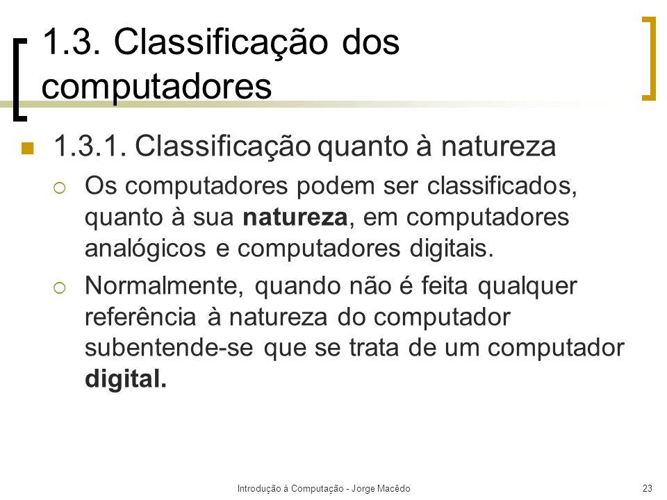 1.3. Classificação dos computadores