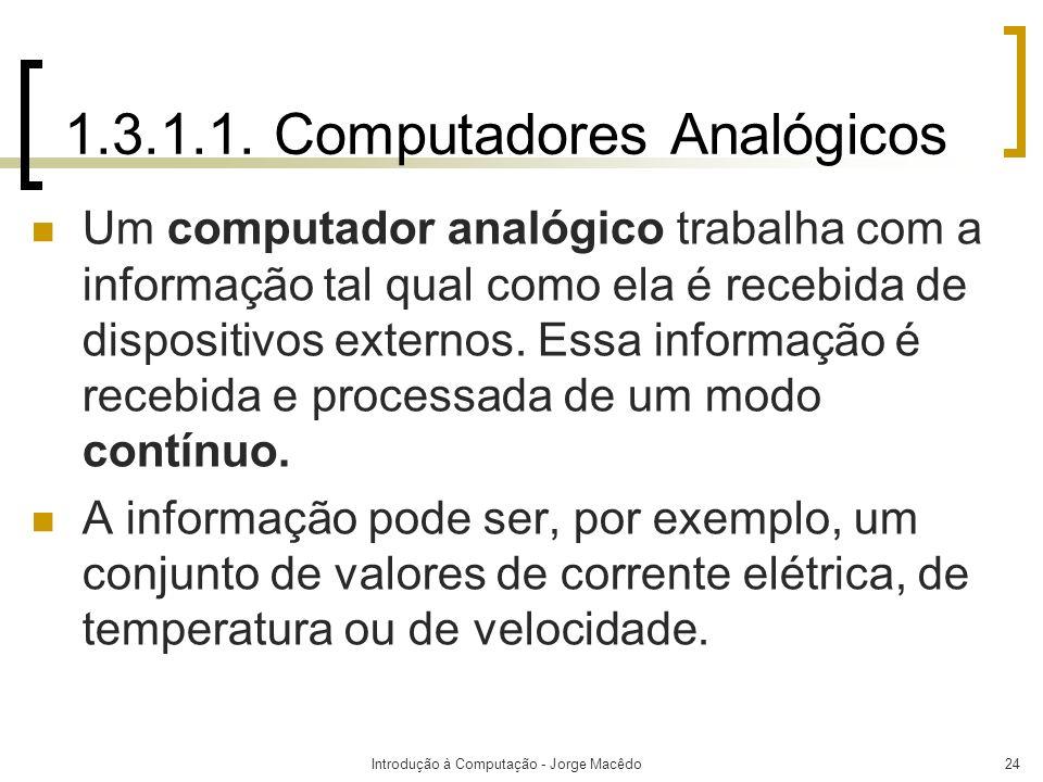 1.3.1.1. Computadores Analógicos