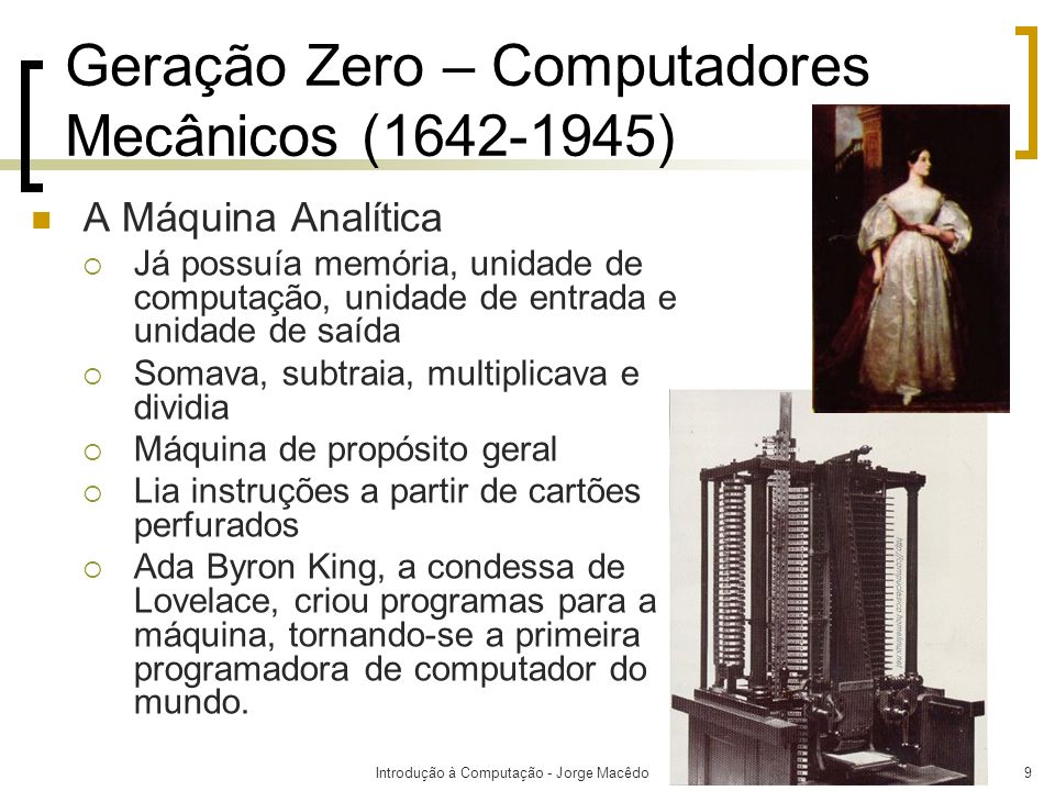 Geração Zero – Computadores Mecânicos (1642-1945)