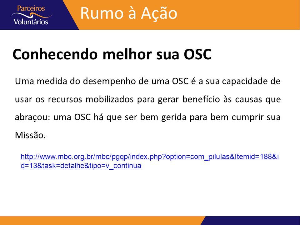 Rumo à Ação Conhecendo melhor sua OSC