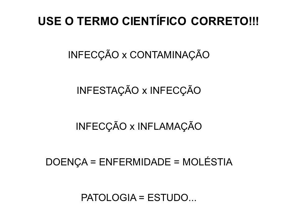 USE O TERMO CIENTÍFICO CORRETO!!!