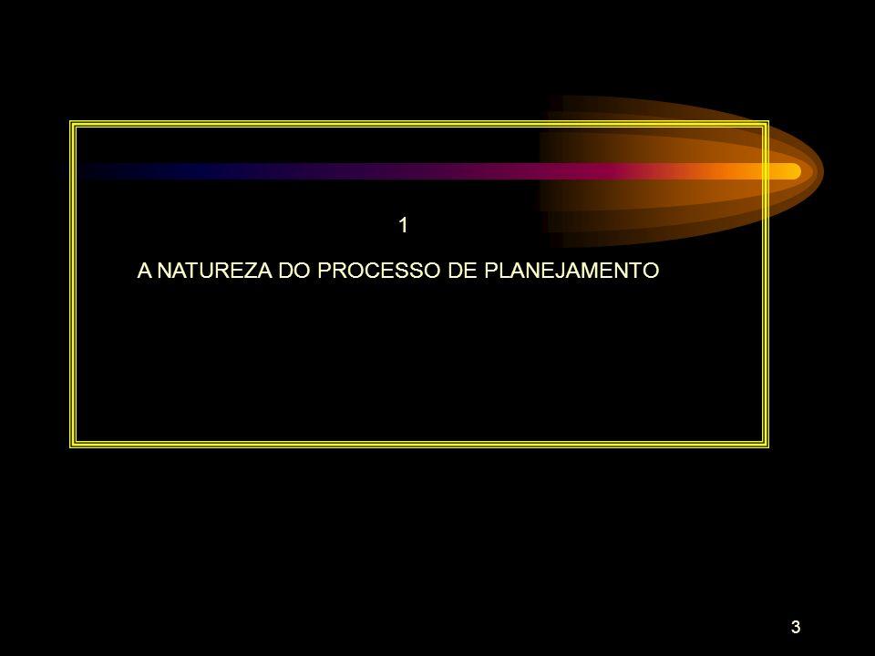 A NATUREZA DO PROCESSO DE PLANEJAMENTO