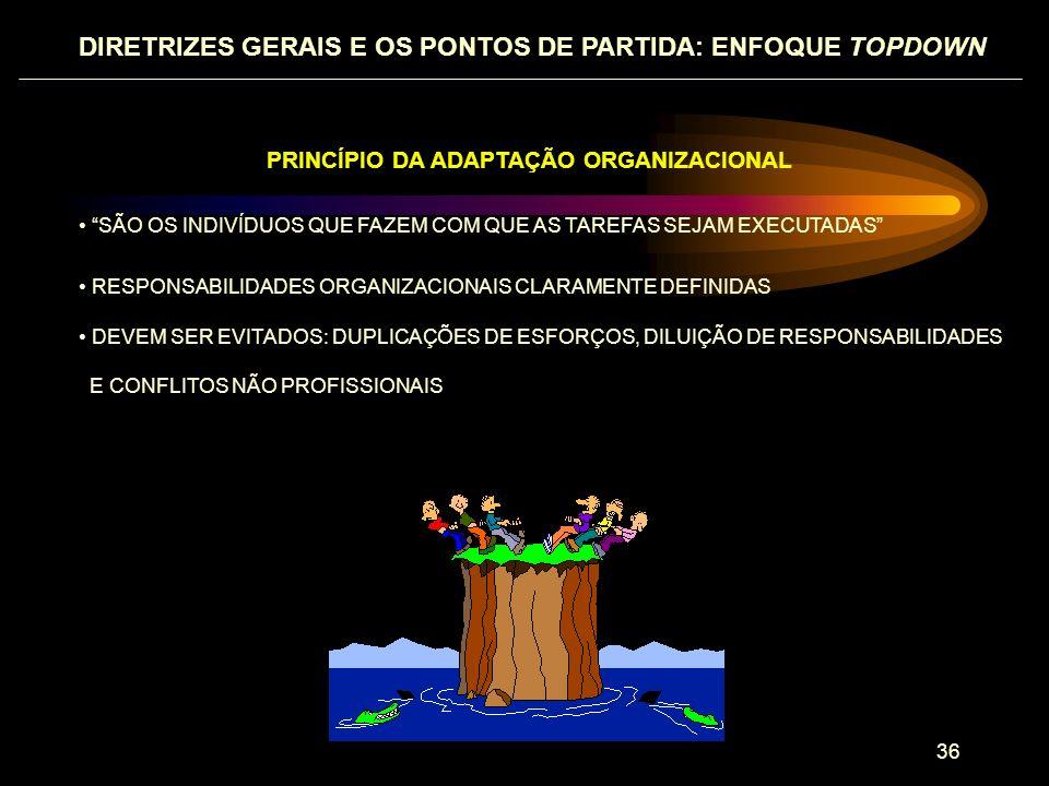 DIRETRIZES GERAIS E OS PONTOS DE PARTIDA: ENFOQUE TOPDOWN