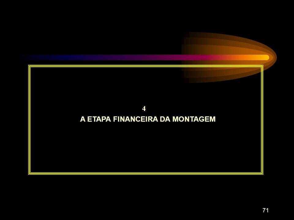 A ETAPA FINANCEIRA DA MONTAGEM