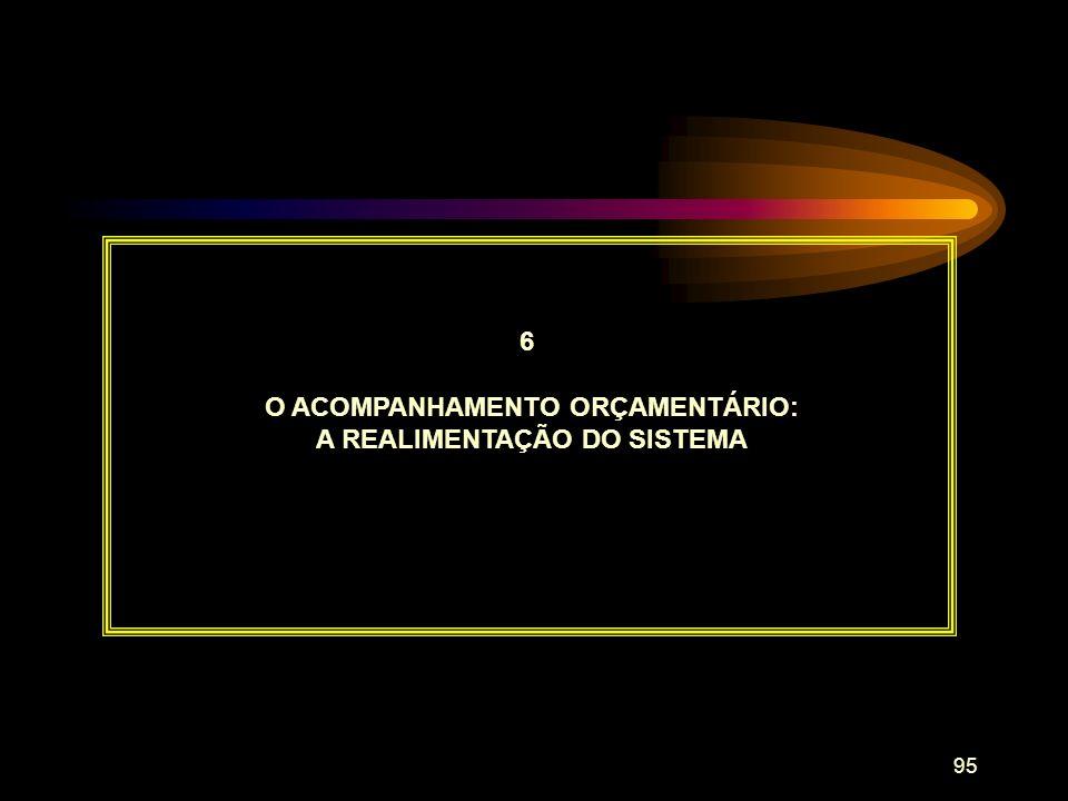 O ACOMPANHAMENTO ORÇAMENTÁRIO: A REALIMENTAÇÃO DO SISTEMA