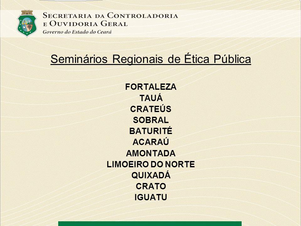 Seminários Regionais de Ética Pública