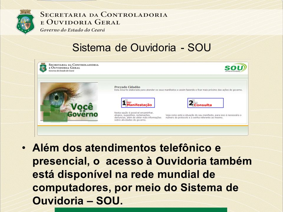 Sistema de Ouvidoria - SOU