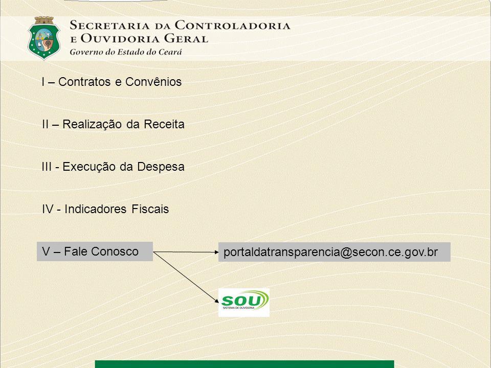 I – Contratos e Convênios