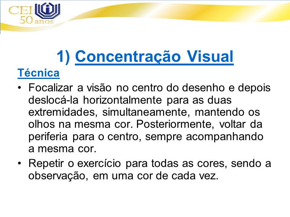1) Concentração Visual Técnica