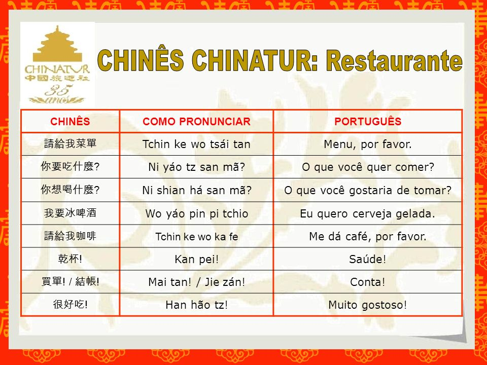 CHINÊS CHINATUR: Restaurante