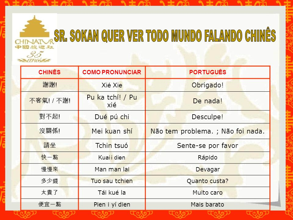 SR. SOKAN QUER VER TODO MUNDO FALANDO CHINÊS