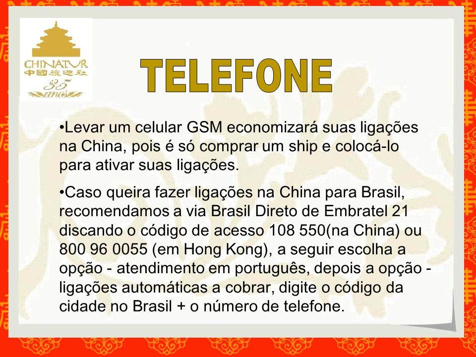TELEFONE Levar um celular GSM economizará suas ligações na China, pois é só comprar um ship e colocá-lo para ativar suas ligações.