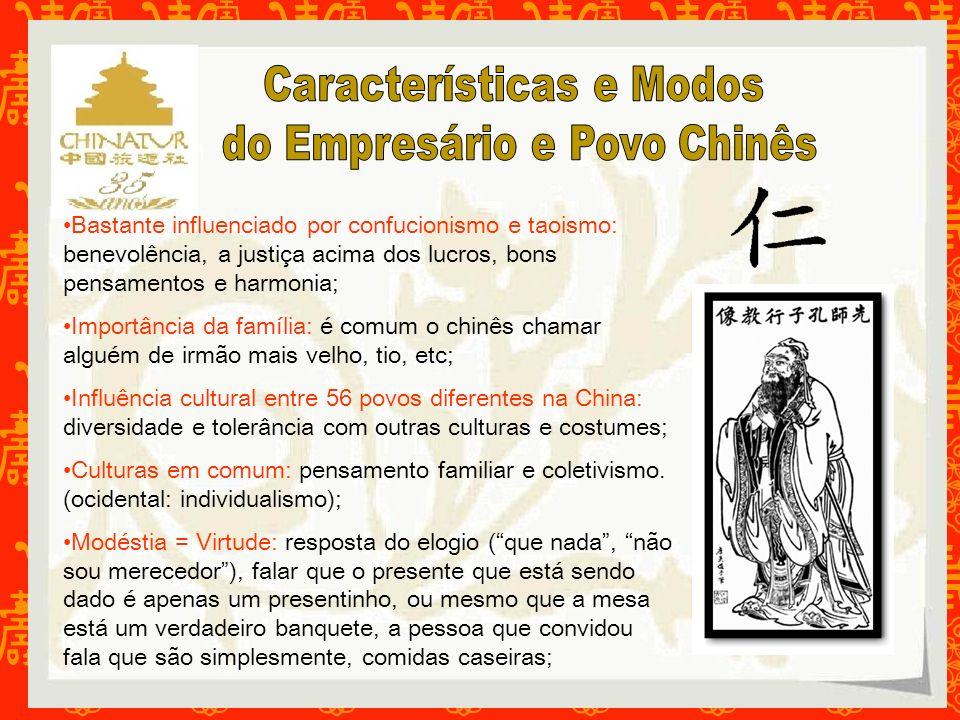 Características e Modos do Empresário e Povo Chinês