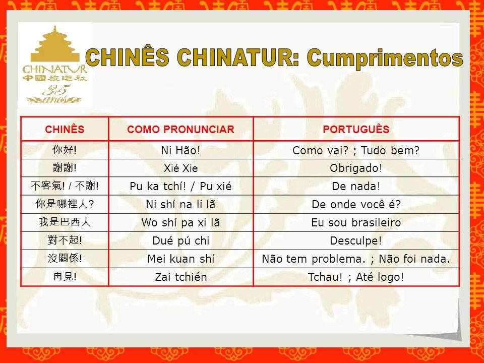 CHINÊS CHINATUR: Cumprimentos