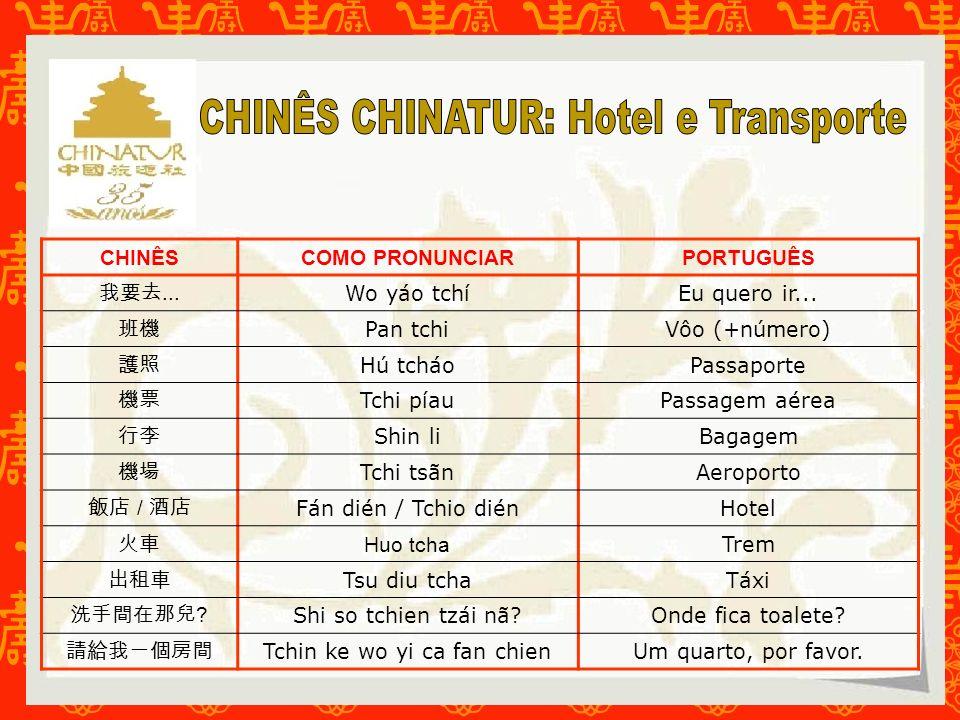 CHINÊS CHINATUR: Hotel e Transporte