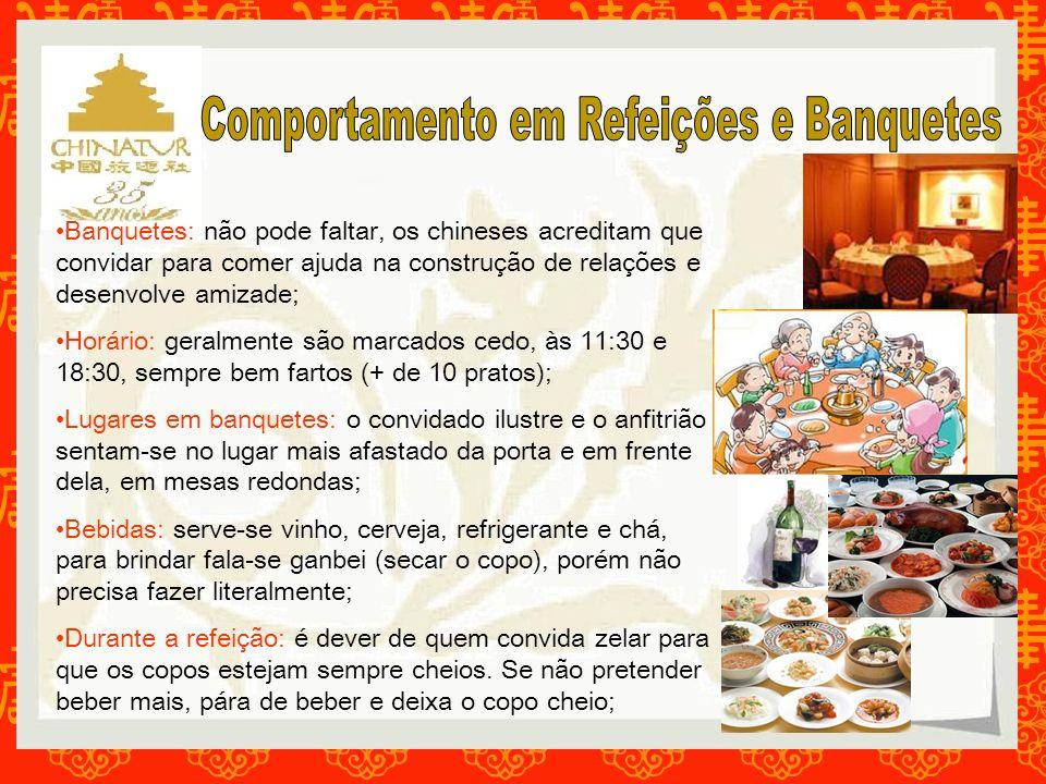 Comportamento em Refeições e Banquetes