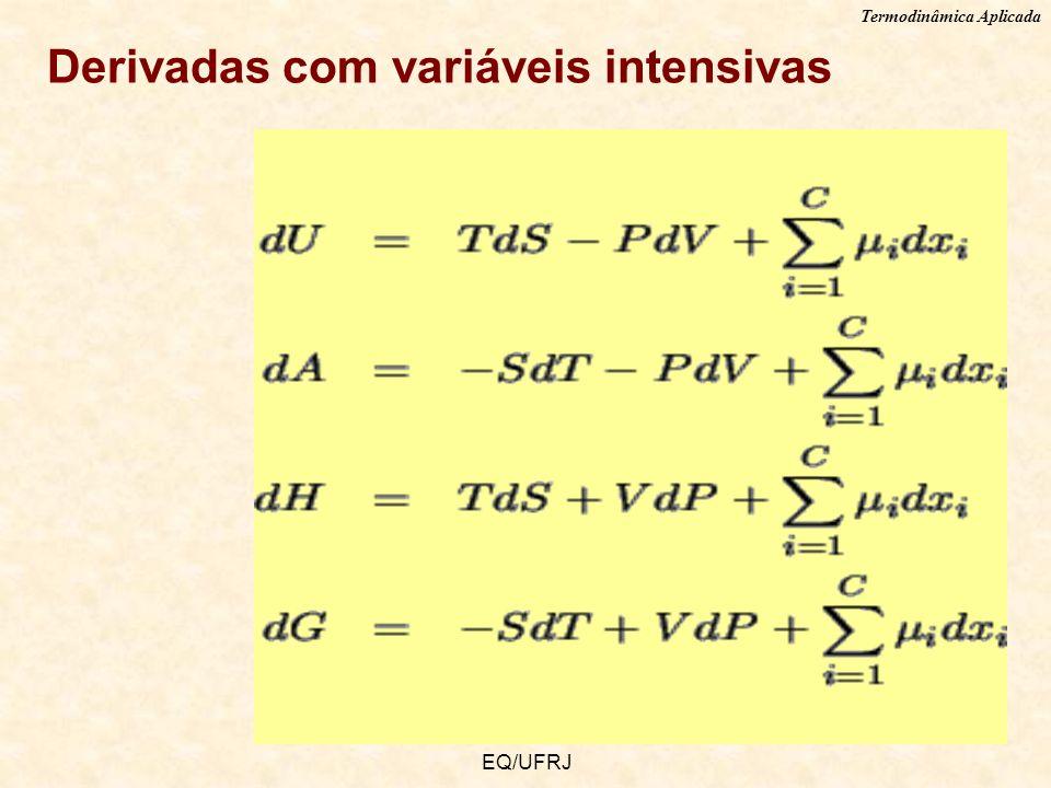 Derivadas com variáveis intensivas