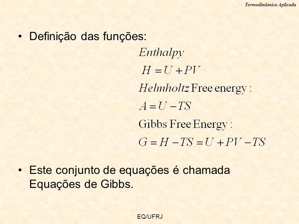 Definição das funções:
