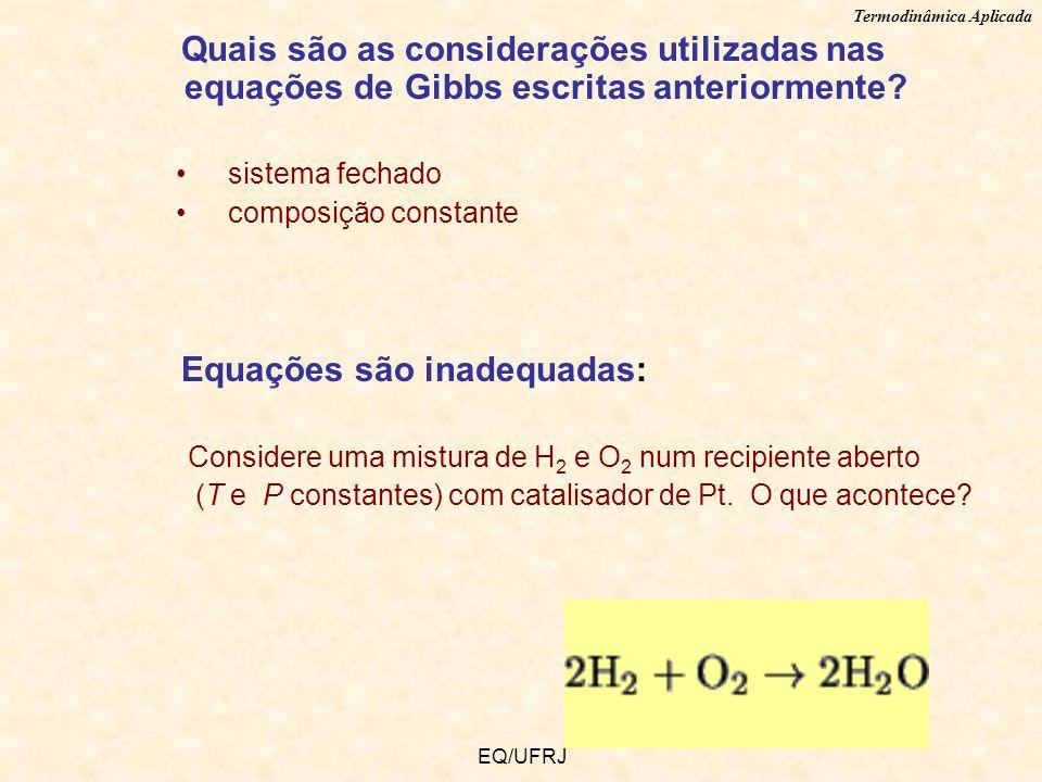 Equações são inadequadas: