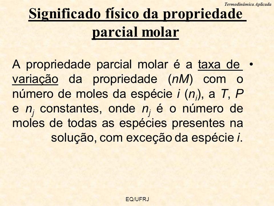 Significado físico da propriedade parcial molar