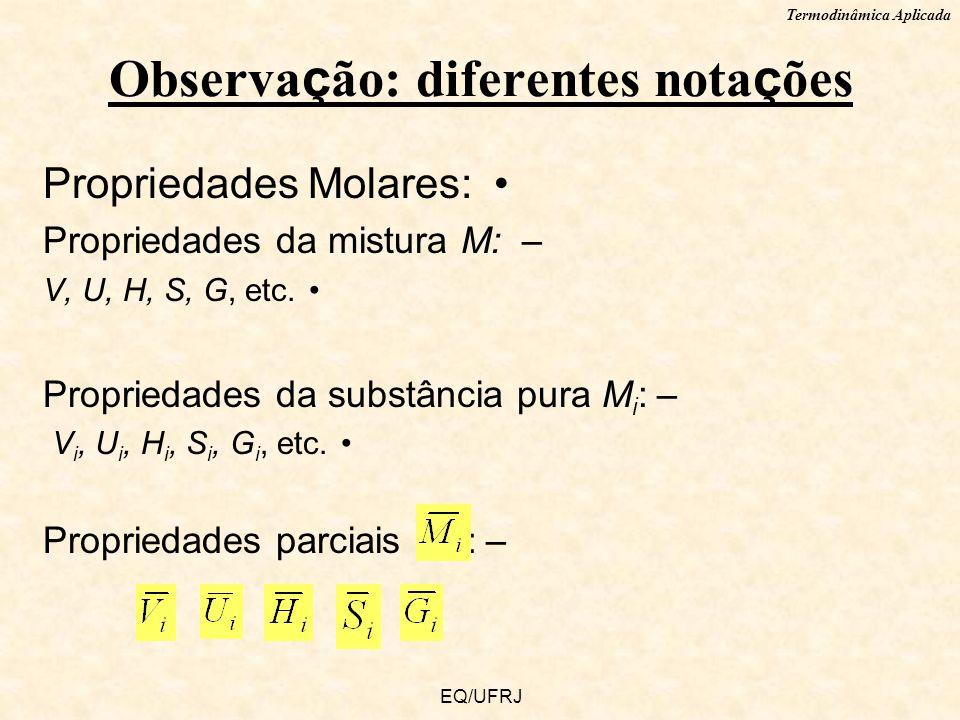 Observação: diferentes notações