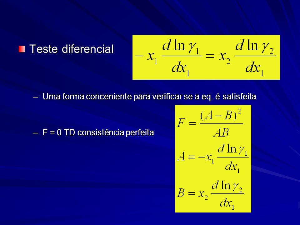 Teste diferencial Uma forma conceniente para verificar se a eq.