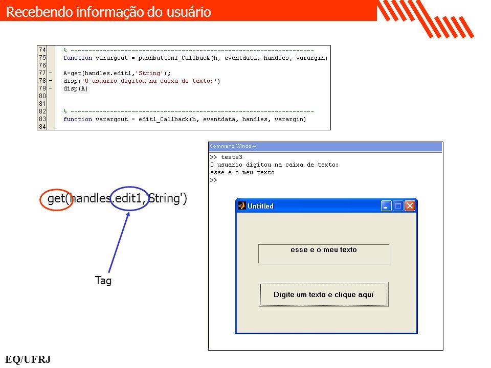 Recebendo informação do usuário