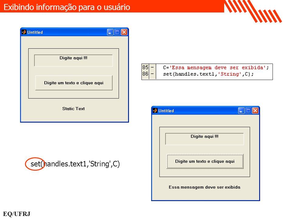 Exibindo informação para o usuário