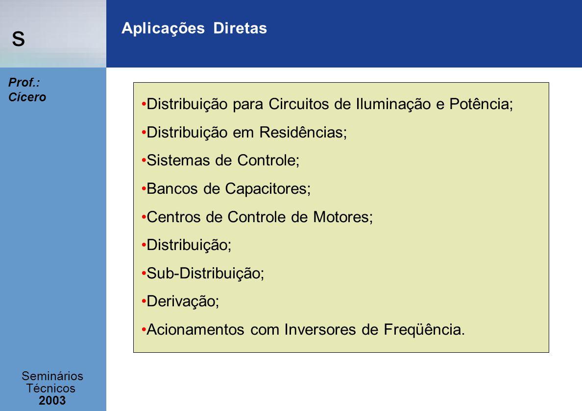 Aplicações DiretasDistribuição para Circuitos de Iluminação e Potência; Distribuição em Residências;
