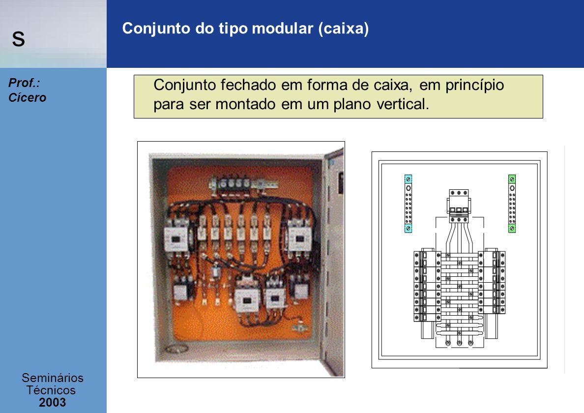 Conjunto do tipo modular (caixa)