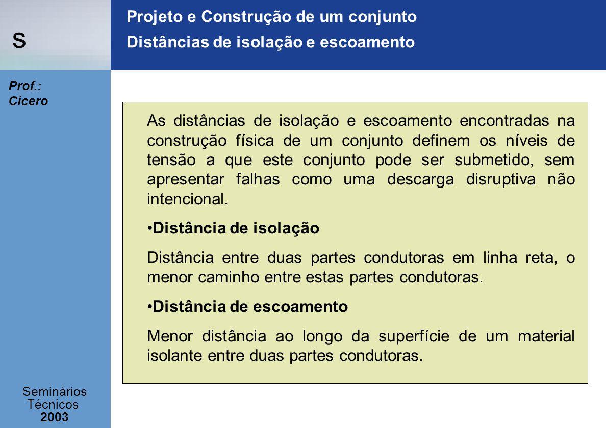 Projeto e Construção de um conjunto Distâncias de isolação e escoamento