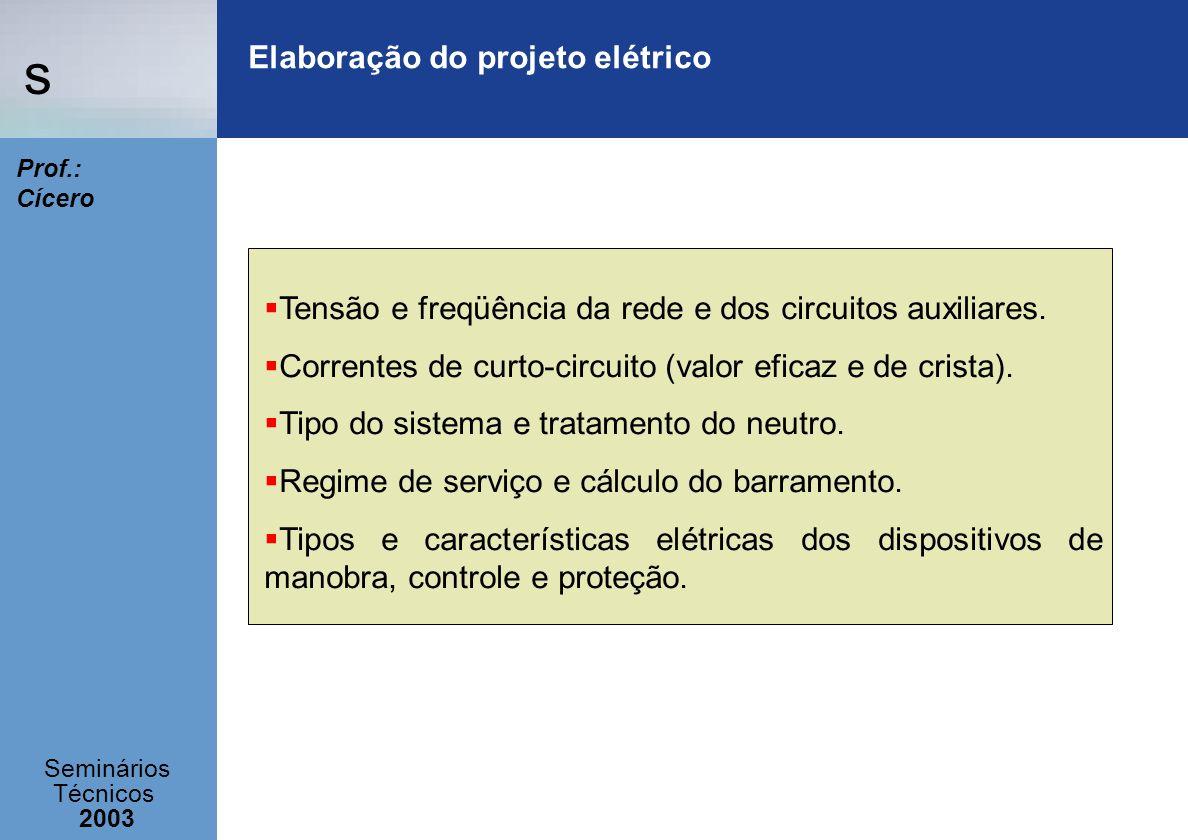 Elaboração do projeto elétrico