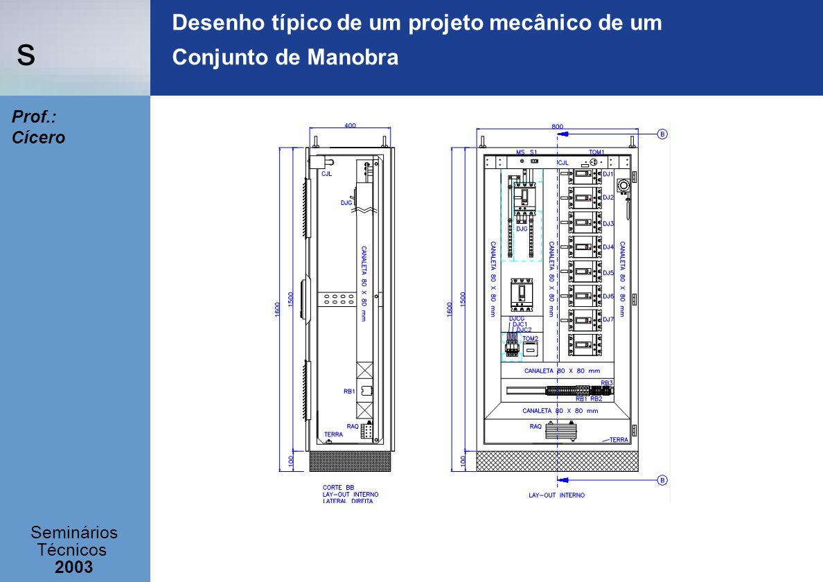 Desenho típico de um projeto mecânico de um Conjunto de Manobra