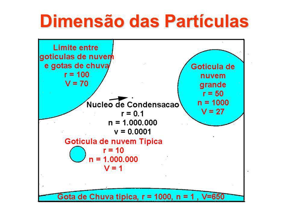 Dimensão das Partículas