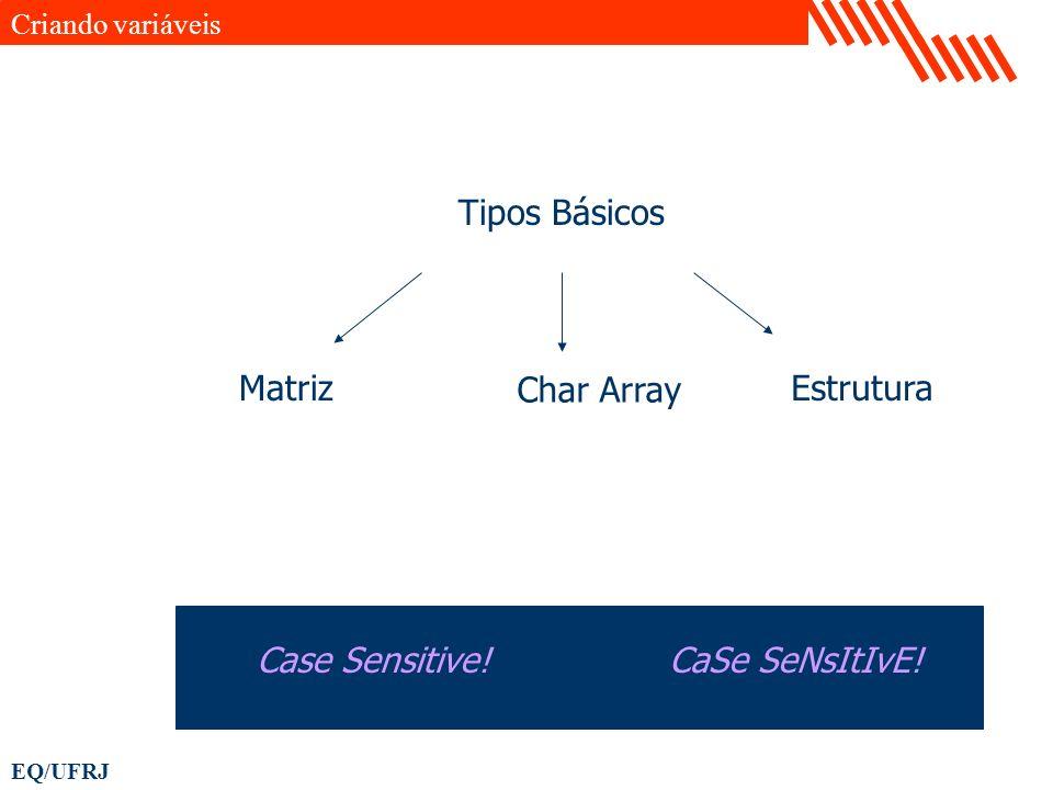 Tipos Básicos Matriz Char Array Estrutura Case Sensitive!