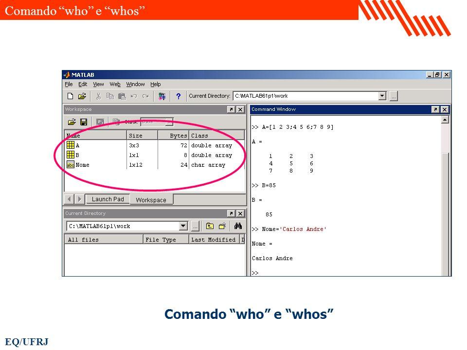 Comando who e whos Comando who e whos