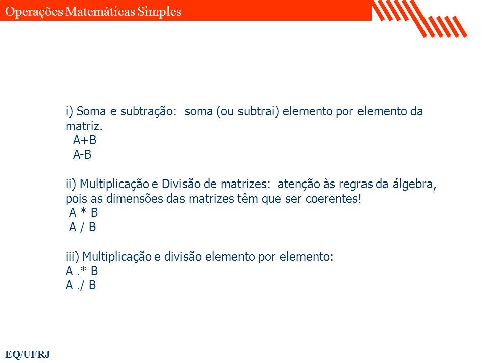 Operações Matemáticas Simples