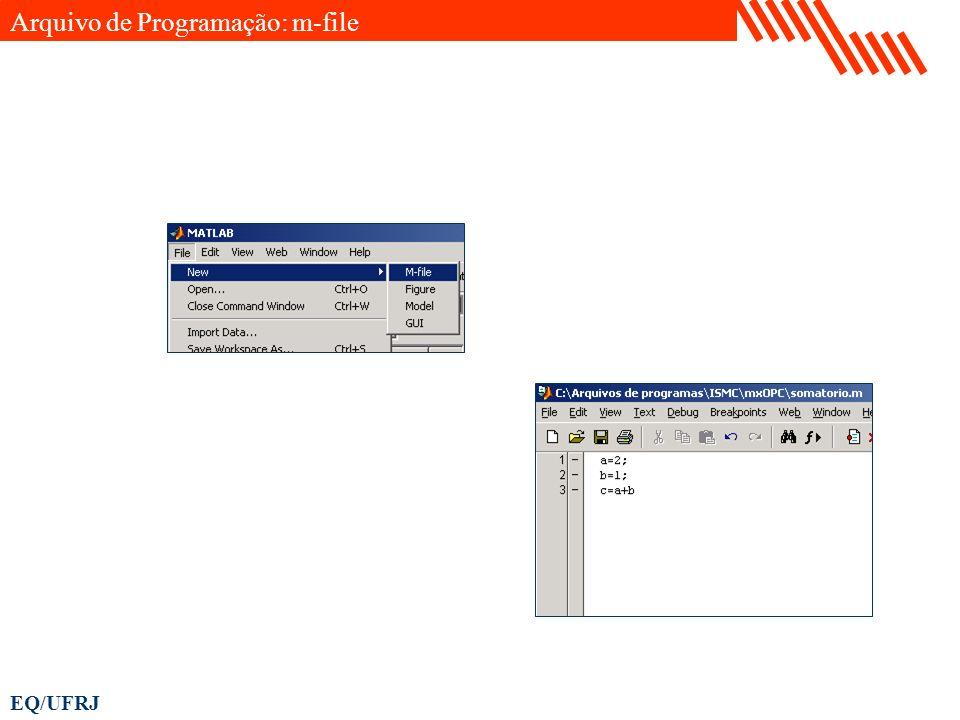 Arquivo de Programação: m-file
