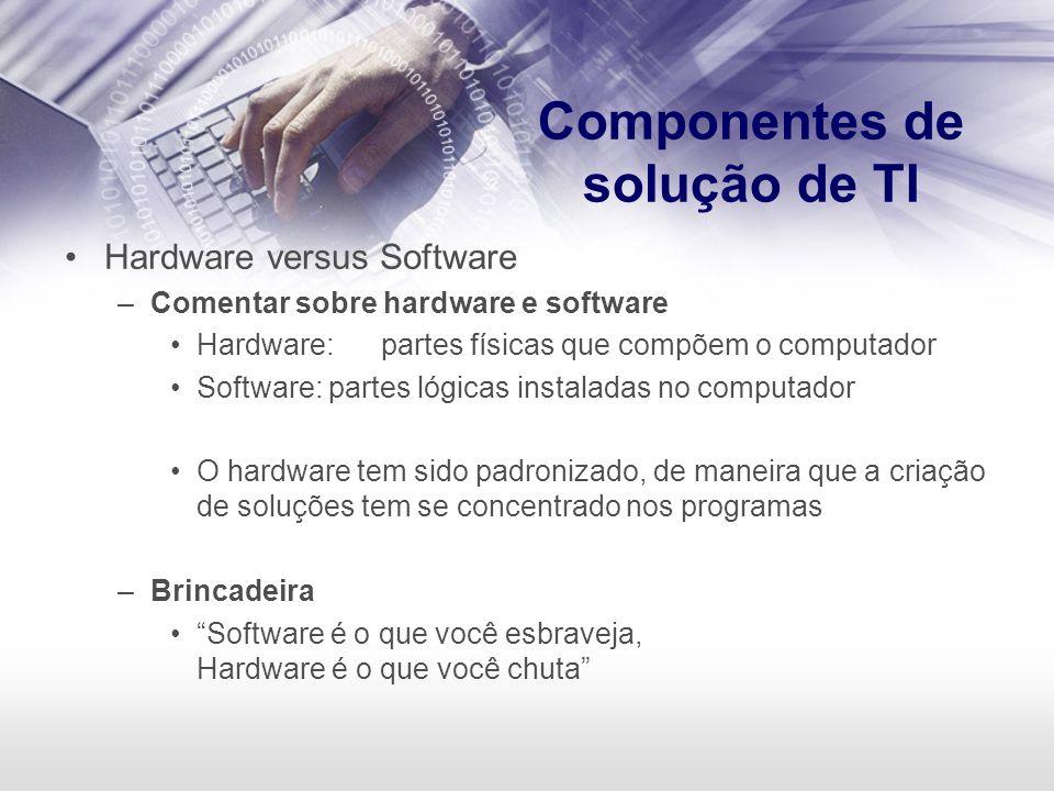 Componentes de solução de TI