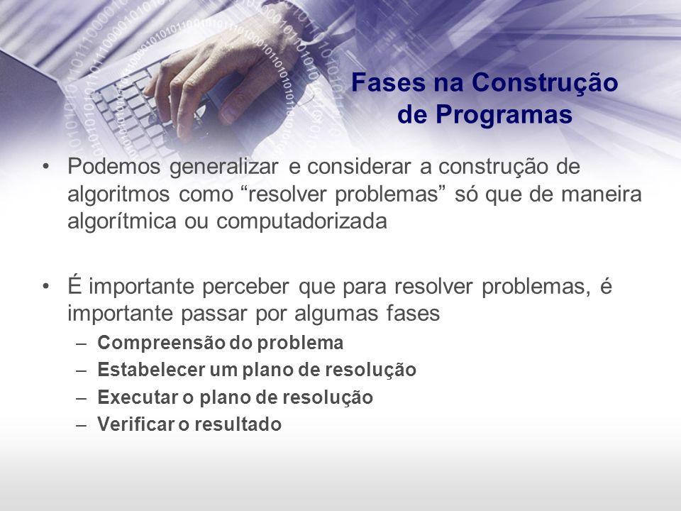 Fases na Construção de Programas