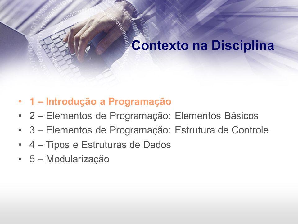 Contexto na Disciplina