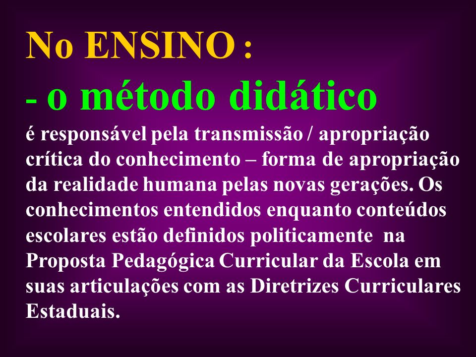 No ENSINO :
