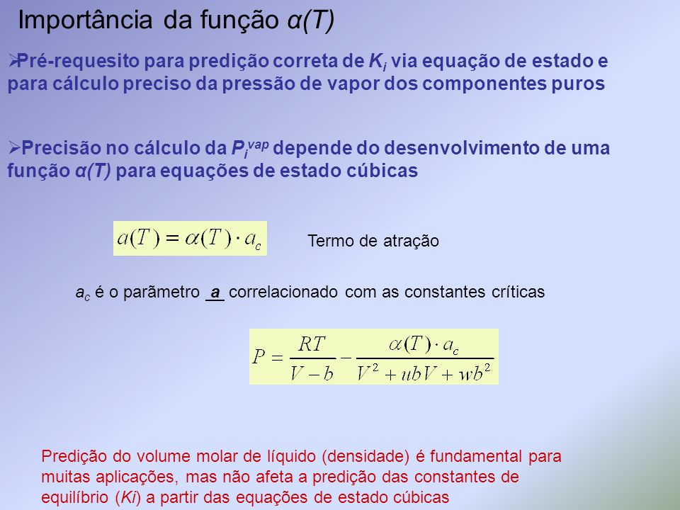 Importância da função α(T)