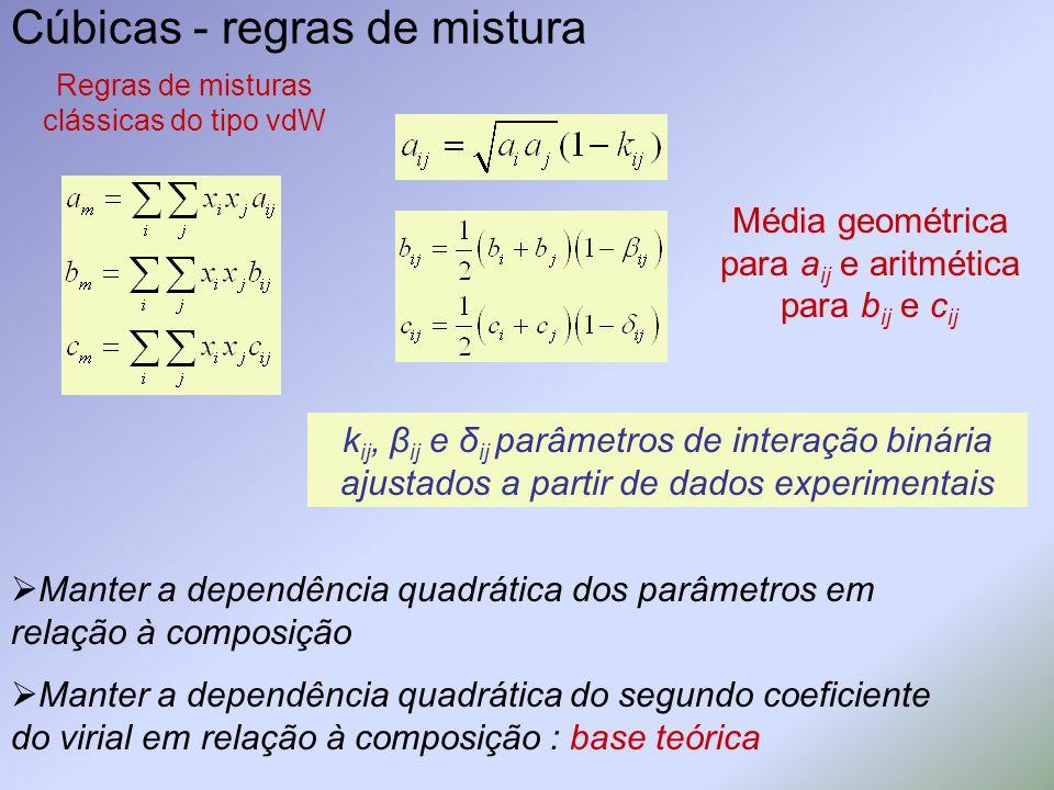 Cúbicas - regras de mistura