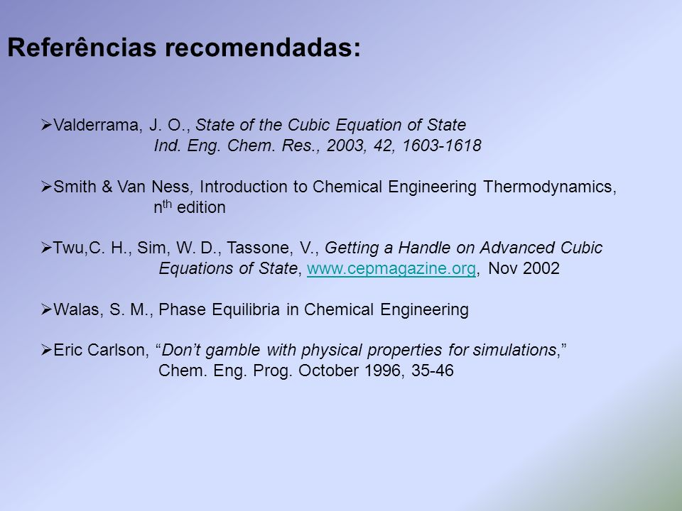 Referências recomendadas: