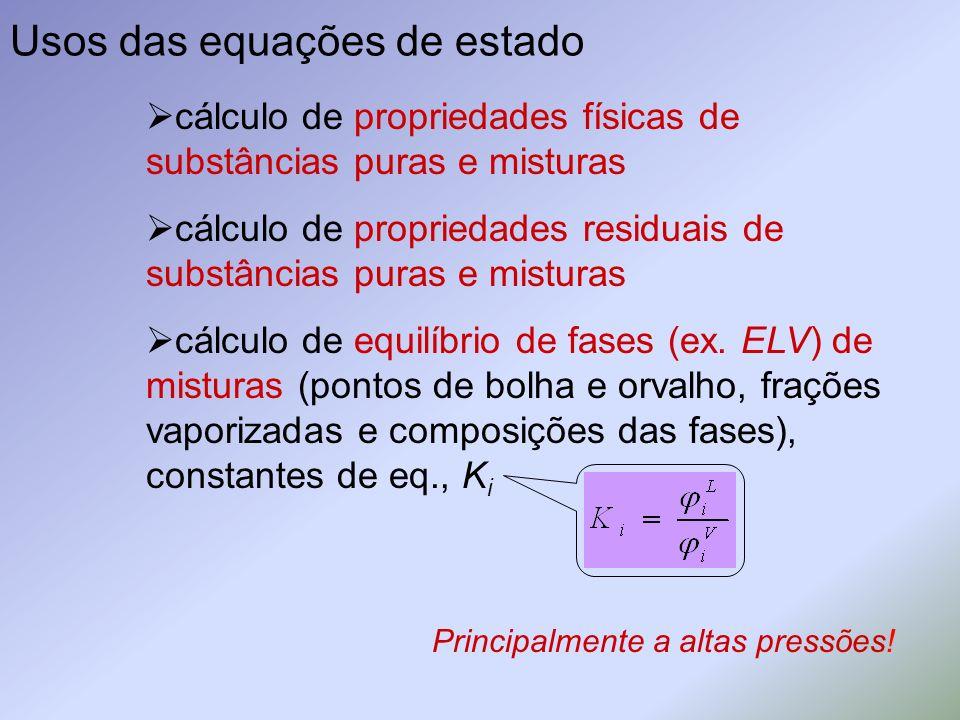 Usos das equações de estado
