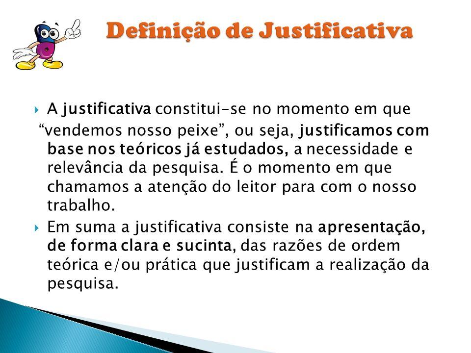 Definição de Justificativa