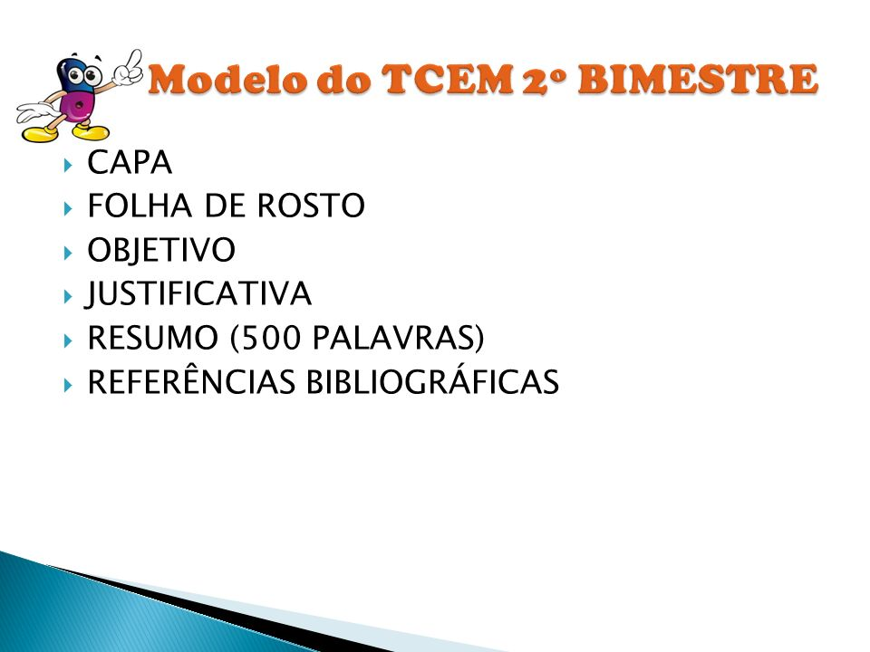 Modelo do TCEM 2º BIMESTRE